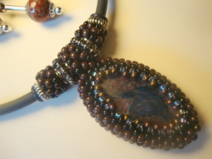 Seed bead and stone 2